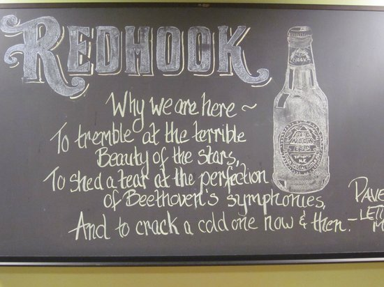 Redhook Portsmouth Brewery & Cataqua Public House : Worthy quote along the way...