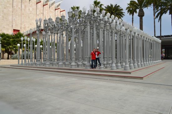 Los Angeles County Museum Of Art: Lamp Posts In Front