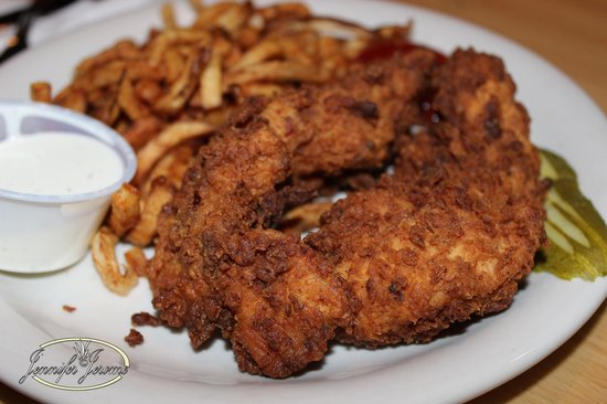 Wobbly Boots : Chicken tenders with fries