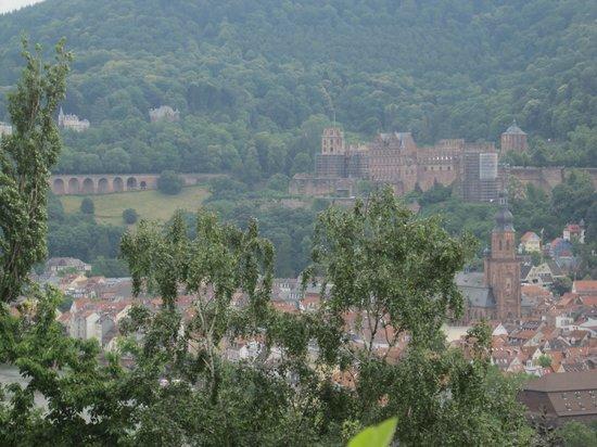 Hotel Goldene Rose: Vista del castillo desde el camino del Filósofo