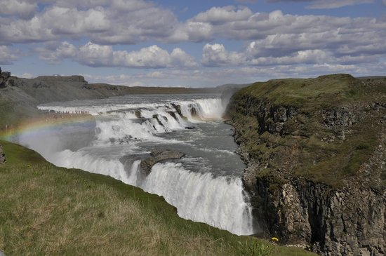 Gullfoss Geysir Direct Day Tour: Gulfoss with natural rainbow