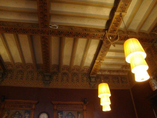 Grand Cafe-Restaurant 1e klas: Ceiling detail