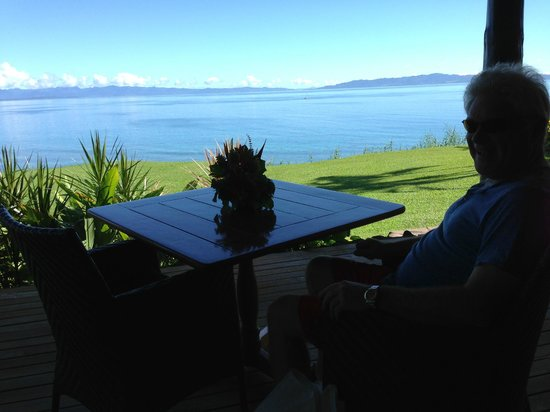 Taveuni Island Resort & Spa: View from outside dining area