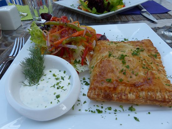 Bread and Olives Food Flair: seafood parcel
