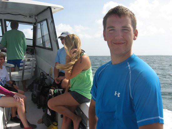 Dive Abaco! : My son Andrew, ready to scuba!
