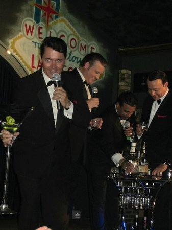 "Rat Pack and Friends : The ""Pack"" drinking a toast"