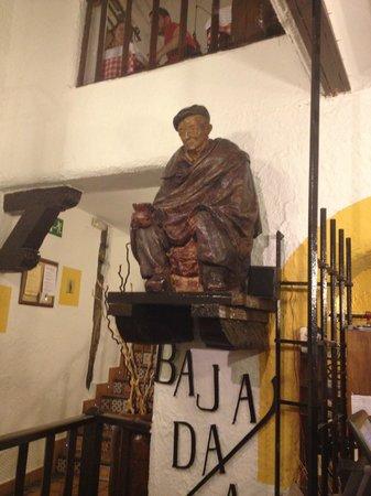 A wall sculpture at El Lacon