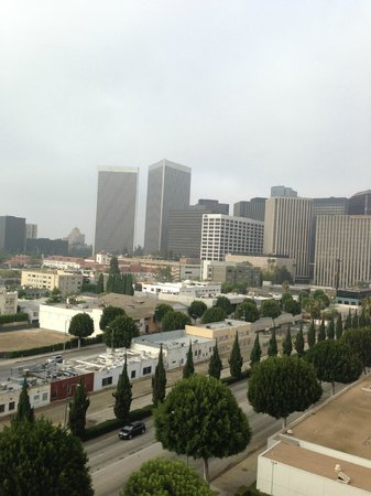 The Beverly Hilton: View from our room on seventh floor