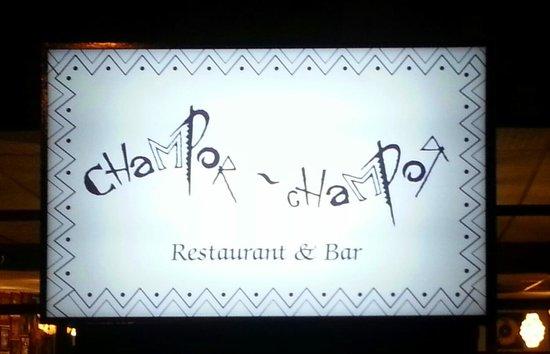 Champor-Champor Restaurant & Bar: Signboard outside