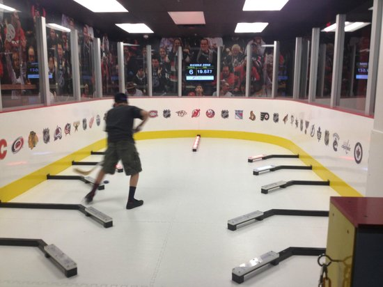 Score! Be The Legend: How long will it take you to get the pucks in? Loved this!