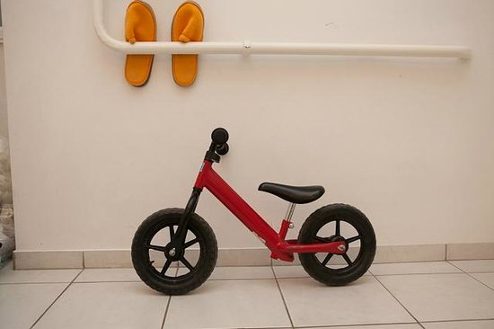 Aventura Boutique Hostel: Learning bike - available for rent for families with kids