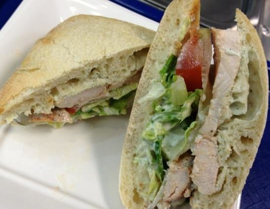 Moustache Cafe: fresh made roasted chicken sandwich
