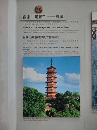 Hakka Museum of China: One of the informative boards in the museum.
