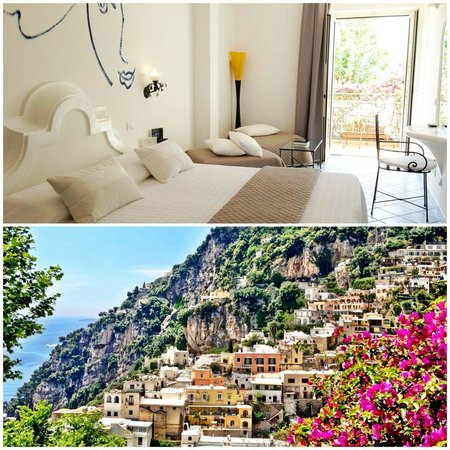 Positano Art Hotel Pasitea: Our Room & View at Pasitea Art Hotel, Positano