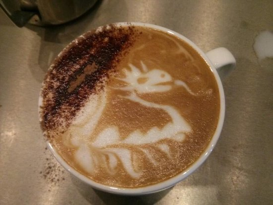 Thirst: An awesome dragon coffee i was served!