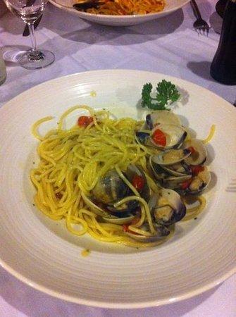 Marco Polo Resort & Restaurant: spaghetti alle vongole