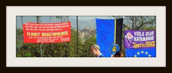 Planet Bhaktapur Hotel: Particolare, torneo di calcetto