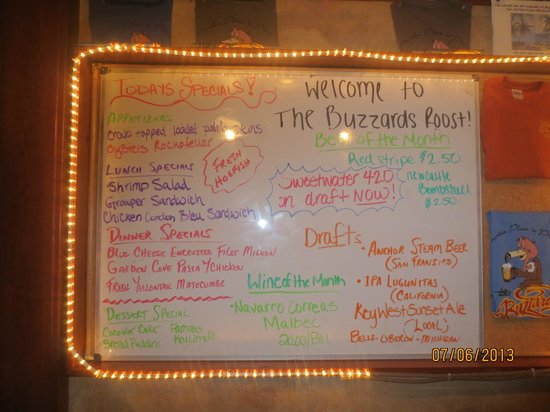 The Buzzard's Roost: Specials