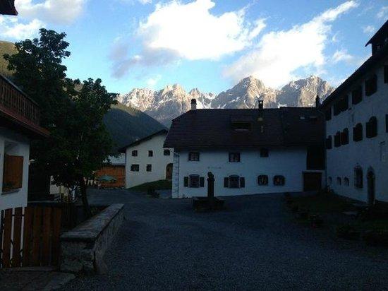 Landgasthof Crusch Alba ed Alvetern : Aussicht auf S-Charl