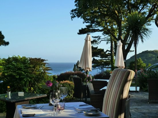 Talland Bay Hotel: View from inside the dining room