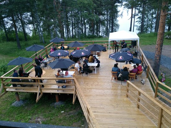 Mysig uteservering sold ck bild fr n cafe tingshuset for Boden direct