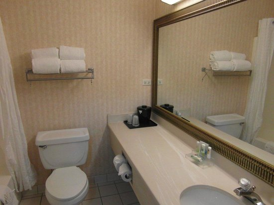 Country Inn & Suites By Carlson, Gurnee: First & second bathroom