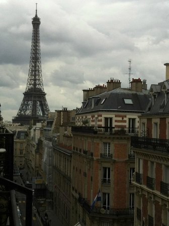 Hotel Elysees Union: View from our room