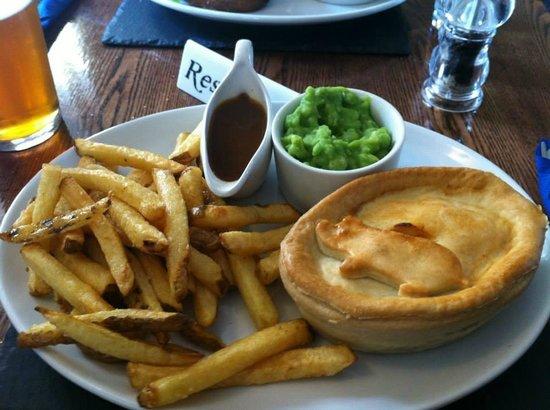 Crowdecote, UK: Pork and chorizo pie.