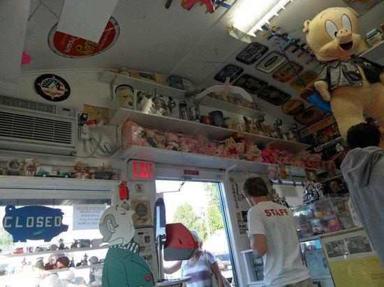 Oink's Dutch Treat: Fun memorabilia everywhere