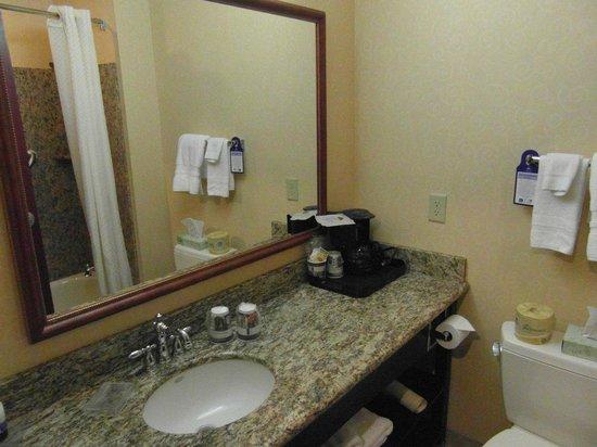 BEST WESTERN PLUS Ticonderoga Inn & Suites: Spotlessly clean bathroom