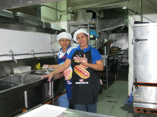 Blue Carabao Diner: Our twin sister employees,we love'm
