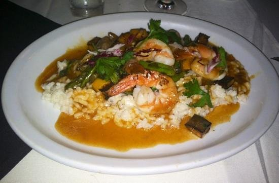 Merge Restaurant: shrimp with risotto