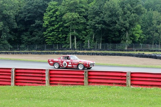 Mid Ohio Sports car course: Coming out of turn 4 and into 5 at the Vintage Car Grand Prix