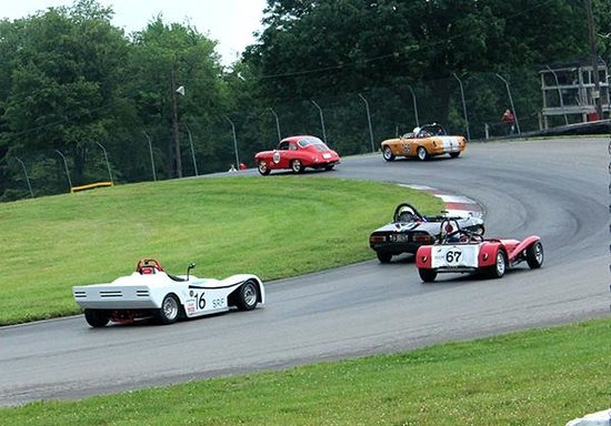 Mid Ohio Sports car course: Turn 5 at the Vintage Car Grand Prix
