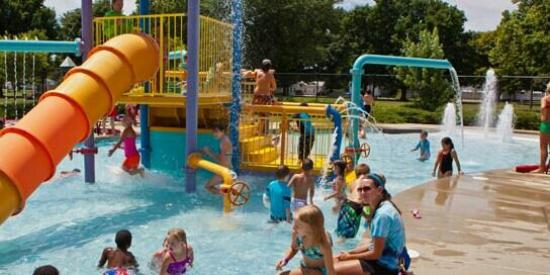 Kennedy Water Playground : Actual photo of water park from their website.