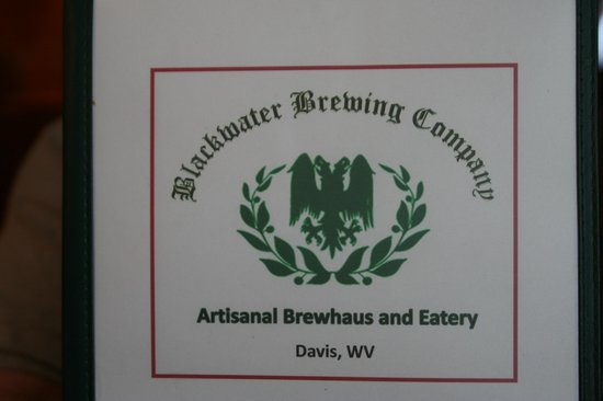 Blackwater Brewing Company : Menu cover
