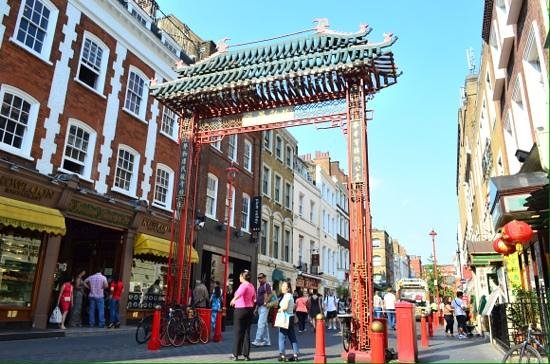 China town gate in soho.