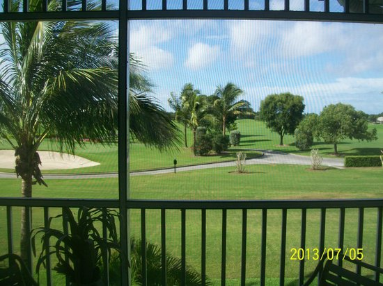 GreenLinks Golf Villas at Lely Resort: View from our room.