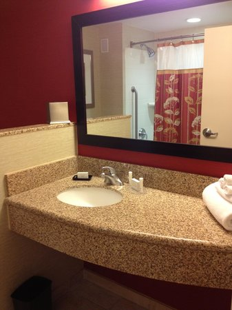 Courtyard by Marriott San Antonio Riverwalk: Clean and spacious bathroom