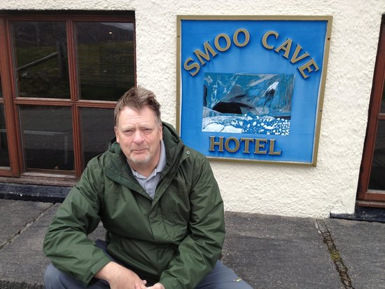 Paul in front of Smoo Cave Hotel