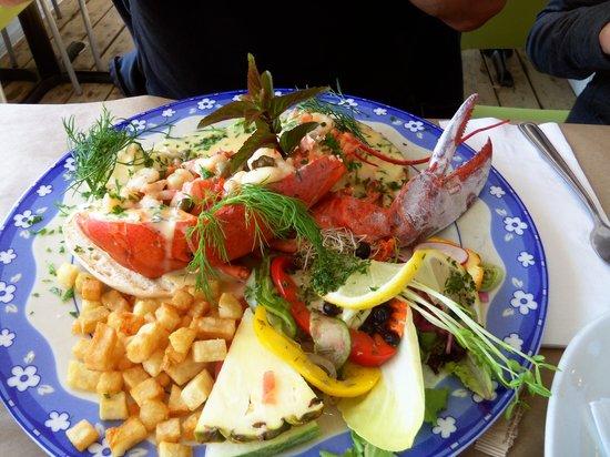 Le Reve Doux: spécial ce jour la oeuf béné avec 1/2 homard