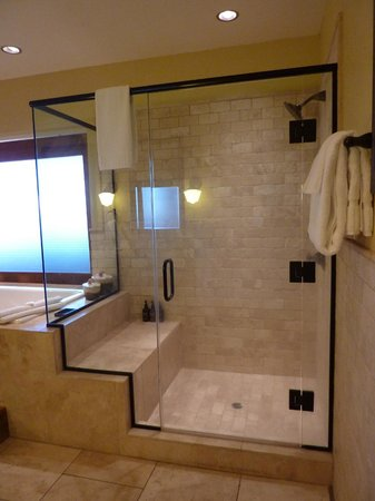 "Brasada Ranch: Very nice shower with built-in ""bench"""