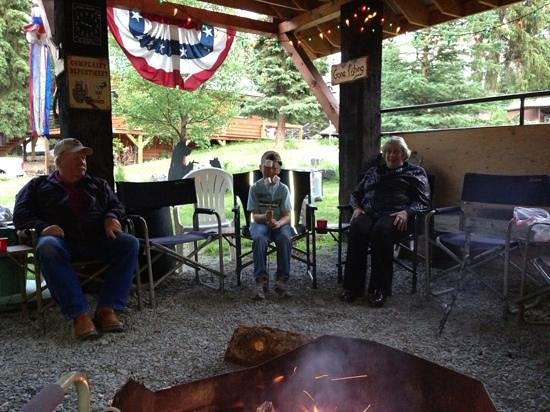 The Hutch B&B: My son making smores with George and Shirley
