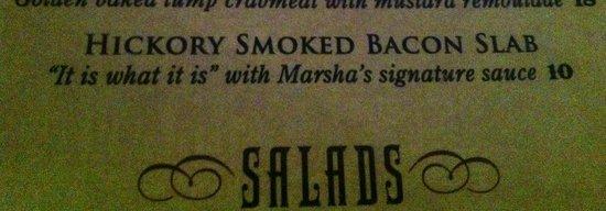 Marsha Brown's : Description for bacon appetizer