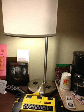 Super 8 Schenect/Albany Area: Lamps all have outlets