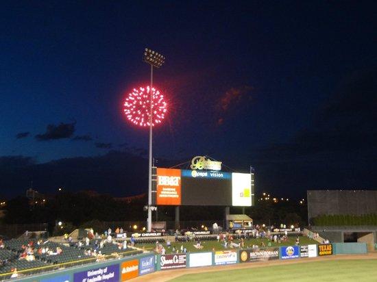Louisville Slugger Field: Fireworks