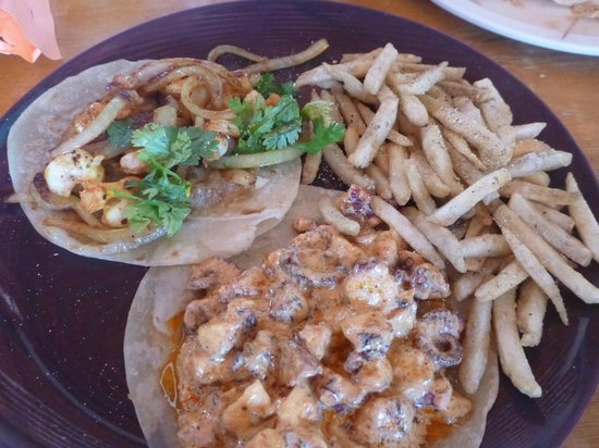Mc-Fisher: Seafood tacos and french fries