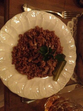 Mari Vanna : Beef Stroganoff with buckwheat