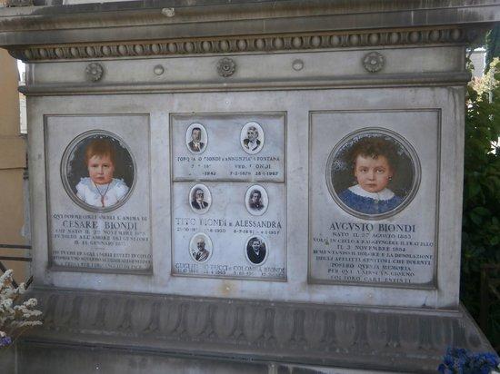 Cimitero Monumentale del Verano: ritratti di due fratellini..