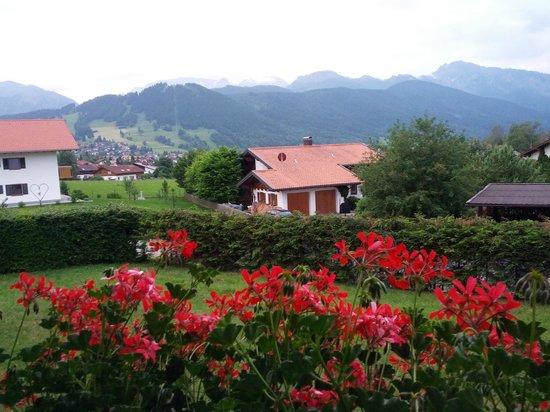 Hotel Alpenblick Berghof: Balcony facing the Alps